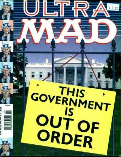 Mad Special 136 - Uncle Sam - Sign - White House - Government - Out Of Order