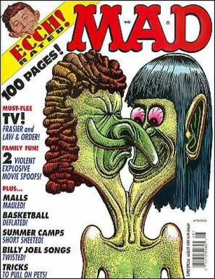 Mad Special 139 - Intertwined Noses - Must-flee Tv - Violent Explosive Movie Spoofs - Two Headed Monster - Ecch Rated