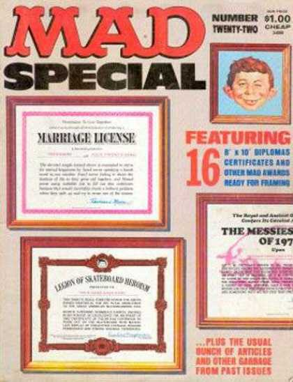 Mad Special 22 - Marriage License - Messies - Diplomas - Picture Frames - Certificates