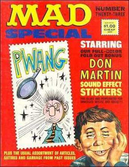 Mad Special 23 - Fold Out Bonus - Don Martin - Sound Effect Stickers - Alfred E Newman - Pan