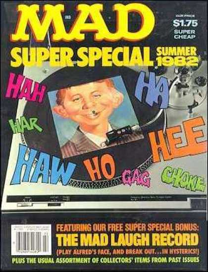 Mad Special 39 - Laugh - Summer 1982 - The Mad Laugh Record - Record - Needle