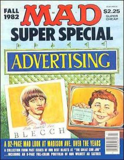Mad Special 40 - Advertising - Blecch - Tvset - Fall 1982 - Super Cheap