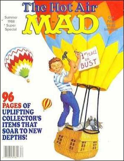 Mad Special 63 - Hot Air Balloon - Summer 1988 - Super Special - 1st Place Or Bust - 96 Pages Of Collectors Items