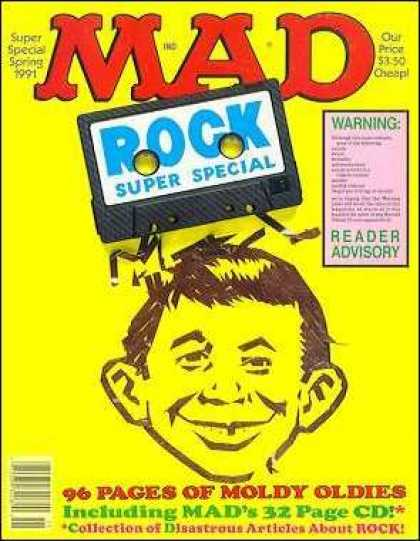 Mad Special 74 - Super Special Spring 1991 - Rock Super Special - Disastrous Articles About Rock - Yellow - Cassette