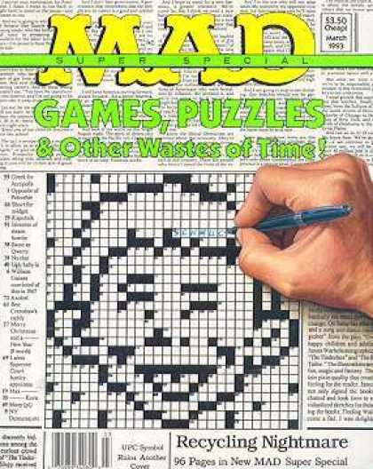 Mad Special 86 - Games - Puzzles - Wastes Of Time - Human Hand - Newspaper
