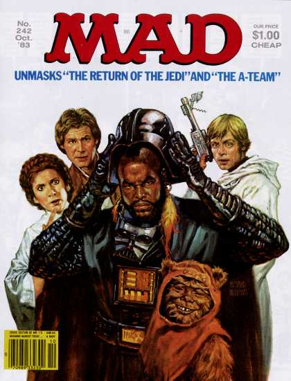 Mad star wars covers mad 242 oct 1983