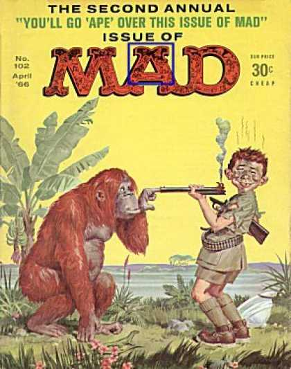 Mad 102 - Ape - Rifle - Gun - Orangutang - Mad