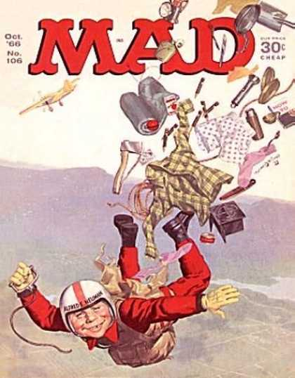Mad 106 - Parachute - Alfred E Neuman - Max - Ax - Flashlight