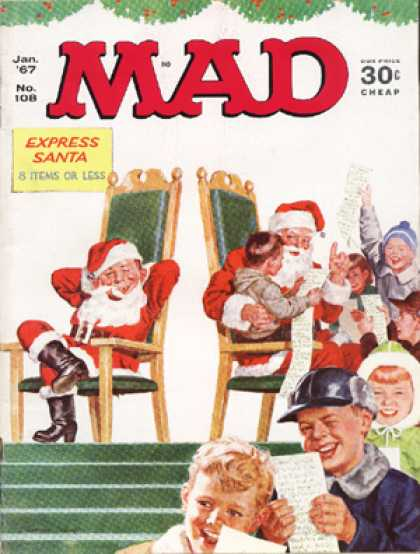 Mad 108 - Santa - Mad - Santa Claus - Children - Happy