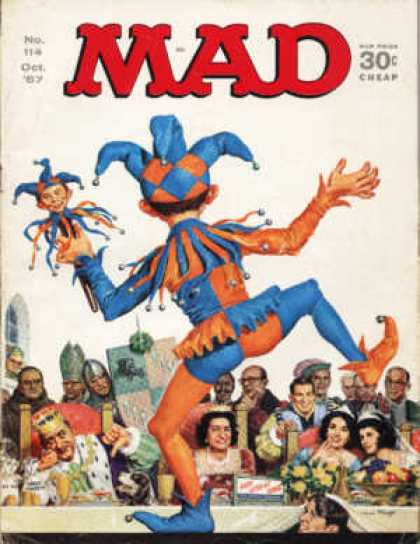 Mad 114 - Jester - King - Queen - Alfred The Clown - Its A Mad Mad World
