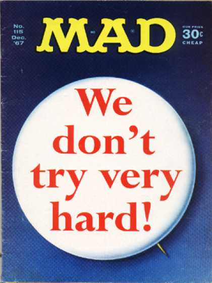 Mad 115 - Words - Button - Cheap - We - Try