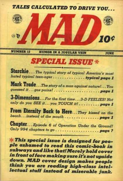 Mad 12 - Issue 12 - Miserable Junk - Tales - Special Issue - June
