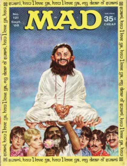 Mad 121 - Alfred E Newman - Beatles - Hare Krishna - Beard - Lotus
