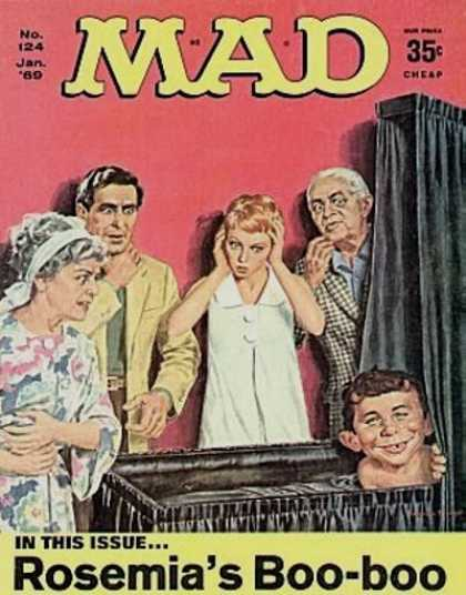 Mad 124 - Family - Black Crib - Gaped Teeth - Baby - Ugly
