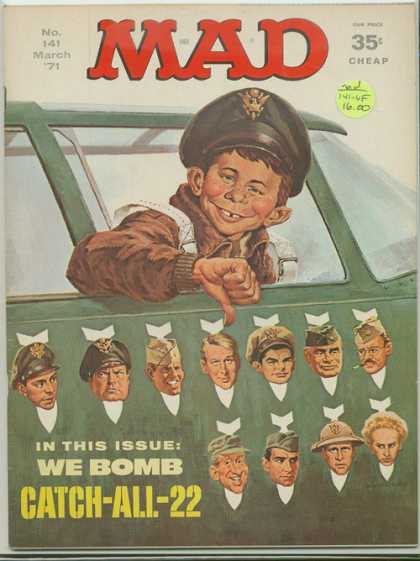 Mad 141 - Adult Comic - No 141 March 71 Edition - Army - We Bomb - Catch All 22