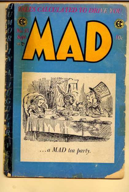 Mad 15 - Mad Hatter - Alice - Rabbit - Tea Party - Alice In Wonderland