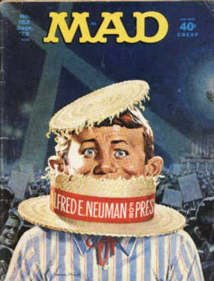 Mad 153 - Hat - Male - Alfred Neuman - Spotlights - Crowd