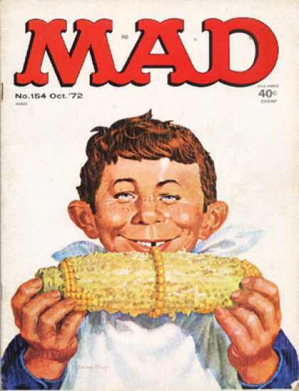 Mad 154 - Red Head - Boy - Freckles - Corn On The Cob - Smile