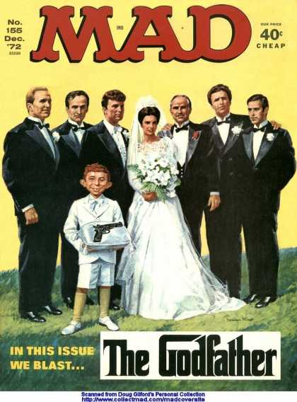 Mad 155 - In This Issue We Blash - Just Got Married - Godfather - Gifted Gun - Bride And Bridegroom