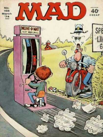 Mad 165 - Don Martin - Alfred E Newman - Speed Trap - Traffic Cop - Shocked