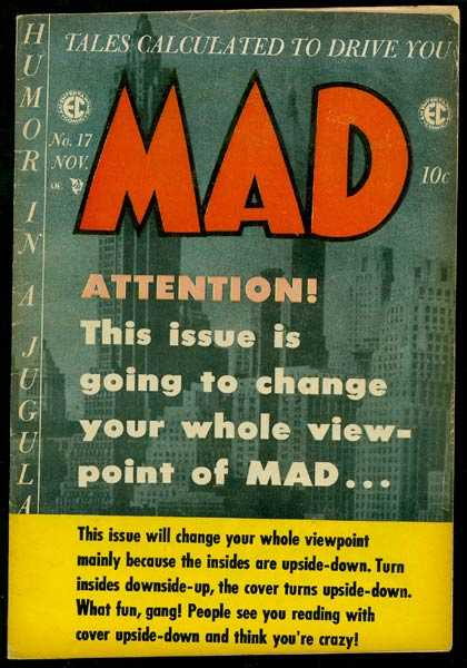 Mad 17 - November - 10 Cents - Humor In A Jugular - Attention - Tales Calculated To Drive You