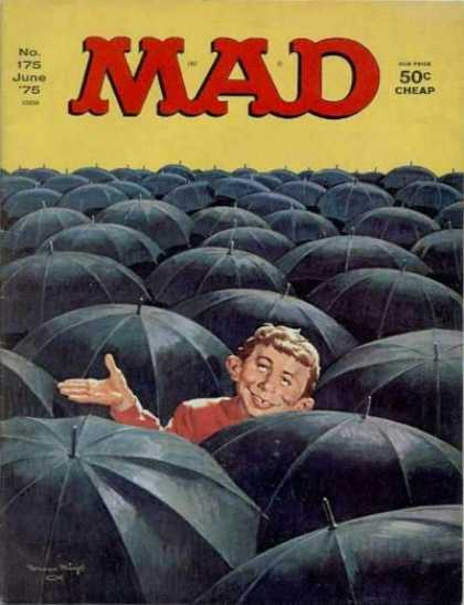 Mad 175 - Umbrellas - 50 Cents Cheap - Rain - Boy - No175