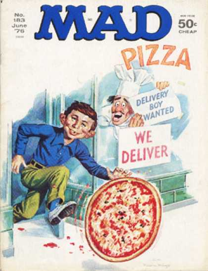 Mad 183 - Pizza - Alfred E Neuman