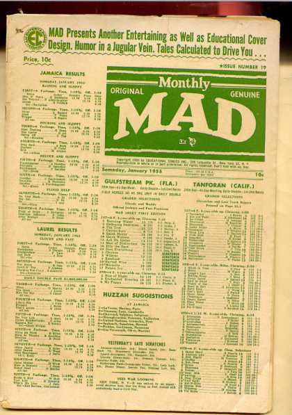 Mad 19 - Old Comic Book Worth Money - Educational Comic - Still Enjoyed Today - Paper - Promotes Reading