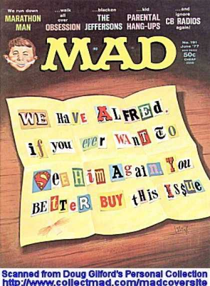 Mad 191 - Note - Ransom - Cut Out Letters - Superman Logo - Blackmail