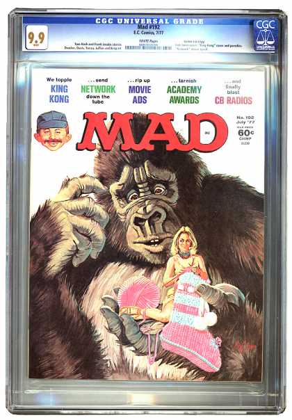 Mad 192 - Mad - July 77 - King Kong - Knitting Woman - Puzzled Ape