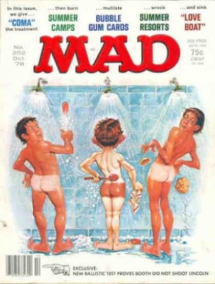 Mad 202 - Shower - Washing - Tan - Soap - Naked Men