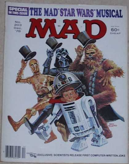 Mad 203 - Star Wars - Love Your Neighbor - Be Happy - Release The Child In You - A World Of Fantasies