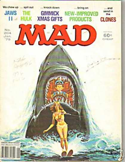 Mad 204 - Shark - Jaws 2 - The Hulk - Gimmick Xmas Gifts - New Improved Products
