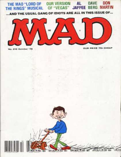 Mad 210 - Lord Of The Rings Musical - Vegas - Gang Of Idiots - Lawn Mower - Blue Shirt - Sergio Aragones