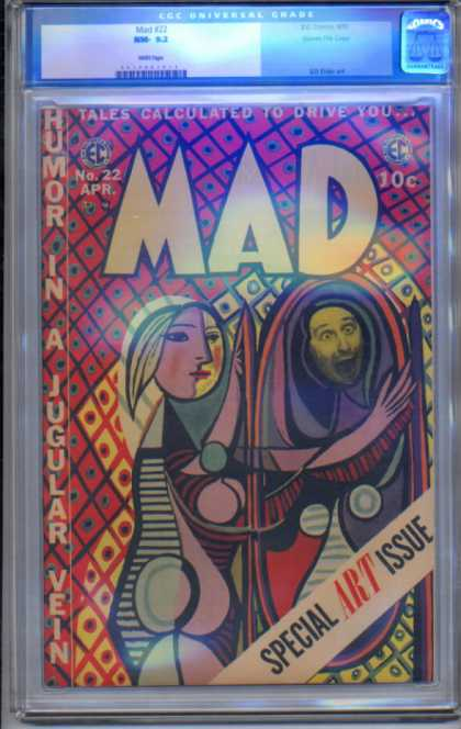 Mad 22 - Special Art Issue - Humor In A Jugular Vein - Tales Calculated To Drive You - Hand - Goofy Face - Harvey Kurtzman