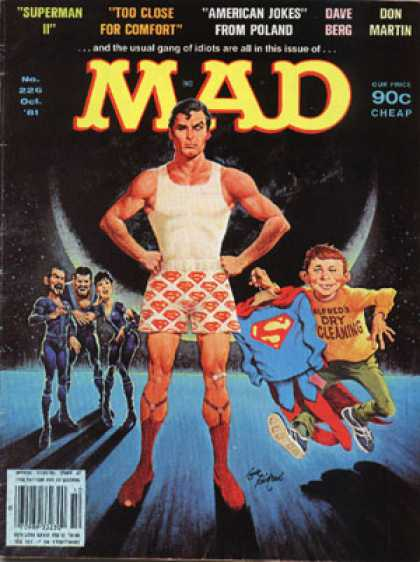Mad 226 - Alfred E Neuman - Superman - Zod