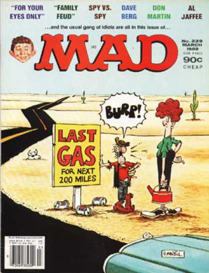 Mad 229 - Desert - Family Feud - Dave Berg - Don Martin - Last Gas
