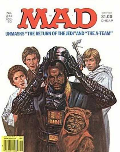 Mad 242 - Mr T - Ewok - No 242 - October - Return Of The Jedi