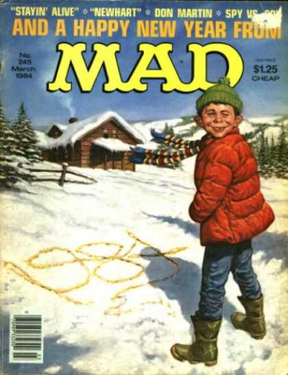 Mad 245 - Stayin Alive - Newhart - Don Martin - Happy New Year - Winter