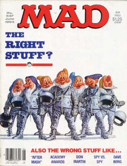 Mad 247 - The Right Stuff - June - Seven Dwarves - Astronauts - After Mash