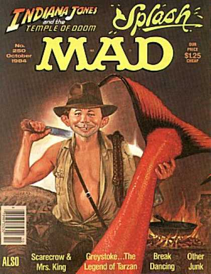Mad 250 - Indiana Jones - Temple Of Doom - Splash - October - Knife
