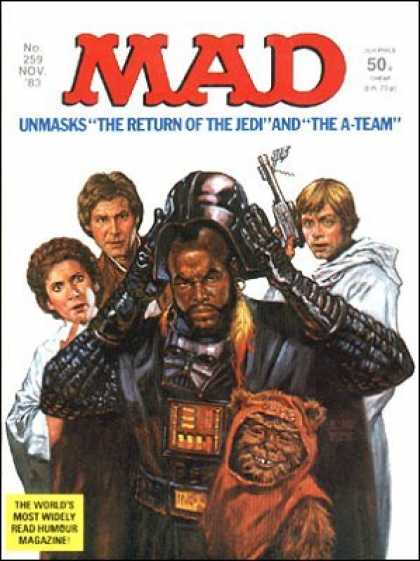Mad 259 - Han Solo - Unmasks - The Return Of The Jedi - The A-team - Lea - Harvey Kurtzman, Will Elder