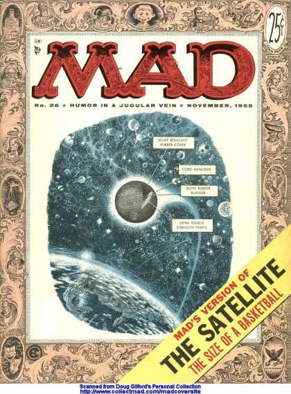 Mad 26 - Satellite - Galaxy - Basketball - Universe - Earth