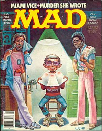 Mad 261 - Miami Vice - Murder She Wrote - Harvey Kurtzman, Will Elder
