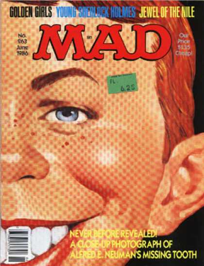 Mad 263 - Golden Girls - Alfred E Newman - Giving The Eye - Alfreds Missing Tooth - Big Ear