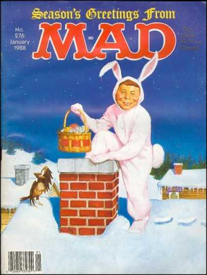 Mad 276 - Basket - Chimney - Rooftops - Snow - Rabbit Costume