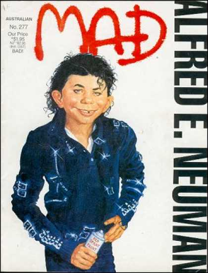 Mad 277 - Michael Jackson - Magazine - Cricatore - Karikatore - Mad Magazine