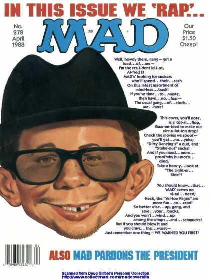 Mad 278 - Cheap - April 1988 - Pardons - President - Warned