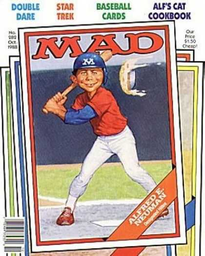 Mad 282 - Star Trek - Double Dare - Baseball Cards - Alfred E Neuman - Alfs Cat Cookbook