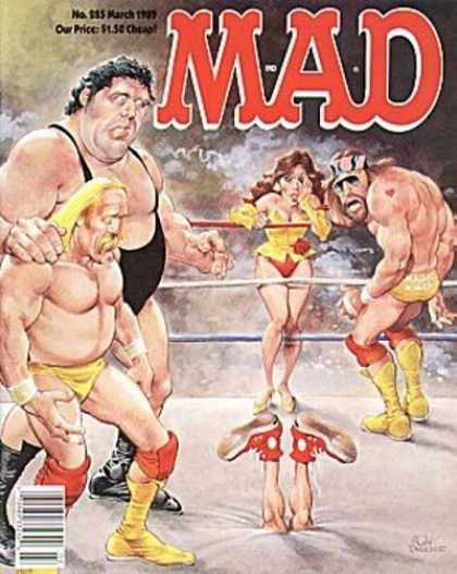 Mad 285 - Hulk Hogan - Elizabeth - Giant - Ring - Blone